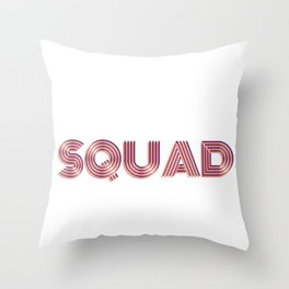 """Wedding Event Bachelorette Party """"Squad"""" Gear Throw Pillow"""