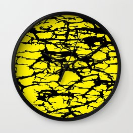 Yellow and Black Interlace Wall Clock