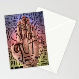 Trust your gut. A PSA for stressed creatives. Stationery Cards