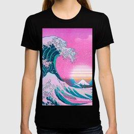 Vaporwave Aesthetic Great Wave Off Kanagawa T-shirt
