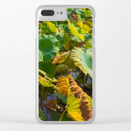 Lily Leaves Clear iPhone Case