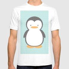 Penguin Dotz MEDIUM Mens Fitted Tee White