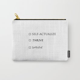Survive, Thrive, Self-Actualize Checklist 01 - coffee mug Carry-All Pouch