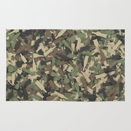 Forest alcohol camouflage Rug