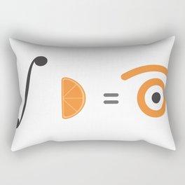 orange integral Rectangular Pillow