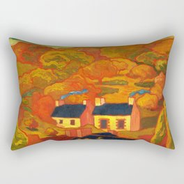 Armand Séguin - Two Thatched Cottages (1893) Rectangular Pillow