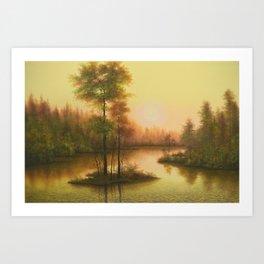 Golden Image Art Print