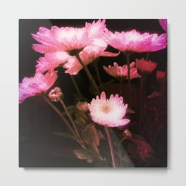 Glowing Flowers Metal Print