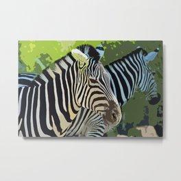 Birmingham Zebras-d Metal Print