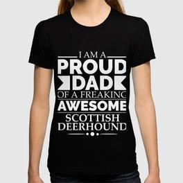 Proud dad Scottish deerhound Dog Dad Owner Father's Day T-shirt