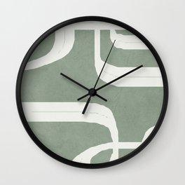 Abstract Lines II Wall Clock
