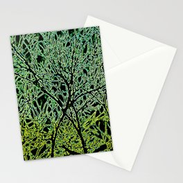 Tangled Tree Branches in Leaf and Lime Green Stationery Cards