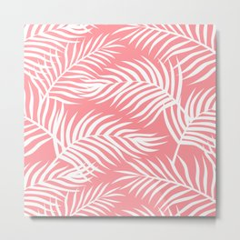 Palm Leaves_Pink Metal Print