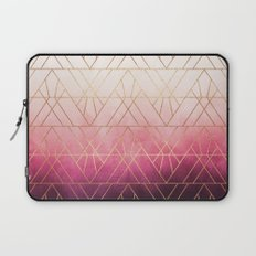 Pink Ombre Triangles Laptop Sleeve