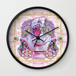 sweet pale pink prince Wall Clock
