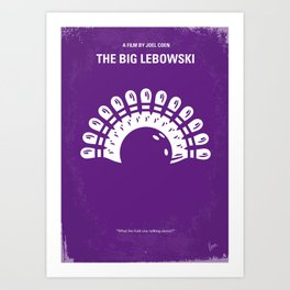 No010 My Big Lebowski minimal movie poster Art Print