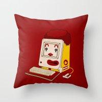 """fleetwood mac Throw Pillows featuring """"MAC"""" Donalds by Chris Dk"""