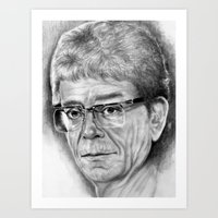 lou reed Art Prints featuring Lou Reed by Rob Delves