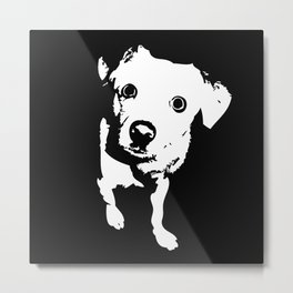 Graphic Dog | Black & White Metal Print
