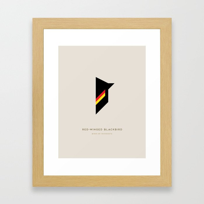 Red-Winged Blackbird Framed Art Print