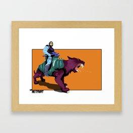 Skeletor x MrWetpaint Framed Art Print