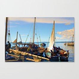 Dhow Stone Town Port Zanzibar Canvas Print