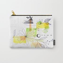 Simple Lines Flowers Carry-All Pouch
