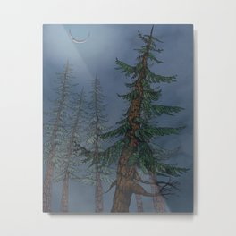 Forest Moonlight Metal Print