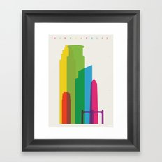 Shapes of Minneapolis Framed Art Print
