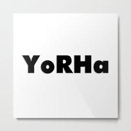 YoRHa Metal Print