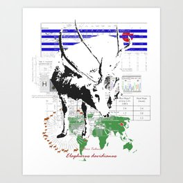 Natura Technica - Pere David's Deer Art Print