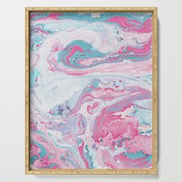 Marbled Spring   Marbled Painting   Swirl Serving Tray