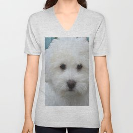 Cute Puppy Unisex V-Neck