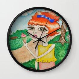 Park Girl Wall Clock