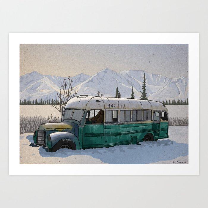 Into the Wild Fairbanks Bus Kunstdrucke