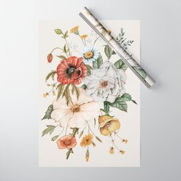 Wildflower Bouquet Wrapping Paper