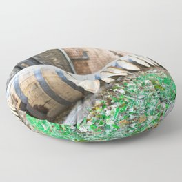 Bourbon Barrel Floor Pillow