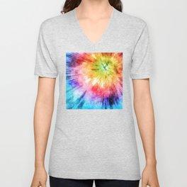 Tie Dye Watercolor Unisex V-Neck