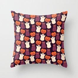 Halloween Marshmallows Throw Pillow