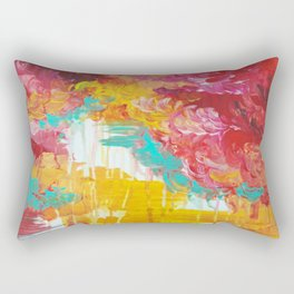 AUTUMN SKIES - Amazing Fall Colors Thunder Storm Rainy Sky Clouds Bold Colorful Abstract Painting Rectangular Pillow