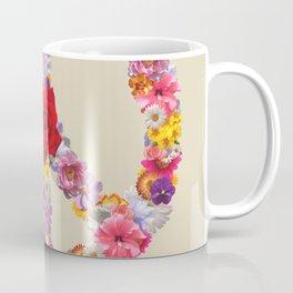 Peace Flower Sign Coffee Mug