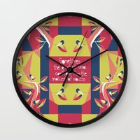 matisse Wall Clocks featuring Black Robin - Matisse Inspired by MadexDesigns