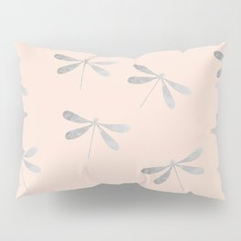 dragonfly pattern: silver & rose Pillow Sham
