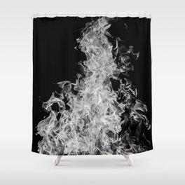 B&W Blaze Shower Curtain