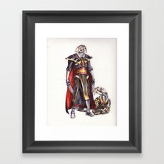 cyber saber toothed with his pet Framed Art Print