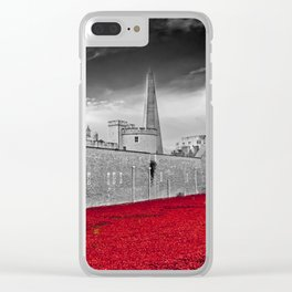 Tower of London Poppy Red Poppies Clear iPhone Case