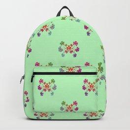 Geraniums Green Backpack