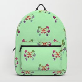 Geraniums Green Backpack