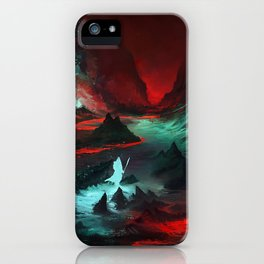 Red Cave iPhone Case