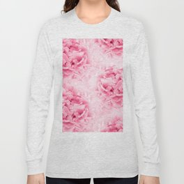 Light Red Peonies Dream #1 #floral #decor #art #society6 Long Sleeve T-shirt